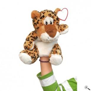 """Peluche marionette léopard """"Leevi"""""""
