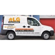 Lettrage publicitaire pour véhicule : Partner, Kangoo, Berlingo