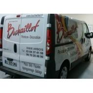 Semi covering et lettrage publicitaire pour véhicule , Trafic , Expert