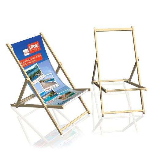 transat de plage personnalis chilienne en bois. Black Bedroom Furniture Sets. Home Design Ideas